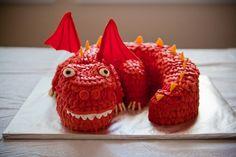 Ninja Party Dragon Cake via http://karaspartyideas.blogspot.com/