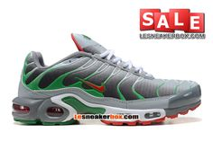 NIKE AIR MAX TN/TUNED REQUIN 2013 - CHAUSSURES NIKE SPORTSWEAR PAS CHER POUR HOMME Gris/Vert/Rouge/Blanc 604133-205