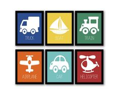 Hey, I found this really awesome Etsy listing at https://www.etsy.com/listing/182274954/sale-transportation-wall-art-set-of-6