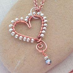 Wire Wrapped Jewelry, Wire Jewelry, Jewelry Crafts, Beaded Jewelry, Jewelry Ideas, Diy Jewellery, Bead Crafts, Pendant Jewelry, Jewlery