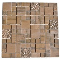 Eden Mosaic Tile Modern Cobble Pattern Copper Mosaic Tile - EMT_MM26-COP-AT