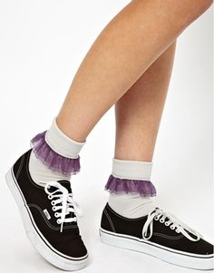 Image 1 ofAmerican Apparel Girly Lace Ankle Socks