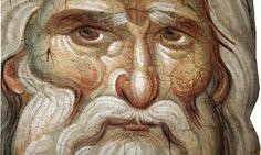 The Holy Prophet Elias the Thesbite (fresco by Manuel Panselinos, Church of the Protaton, Mount Athos) Religious Images, Religious Icons, Religious Art, Byzantine Icons, Byzantine Art, Tempera, Fresco, Close Up Art, Paint Icon