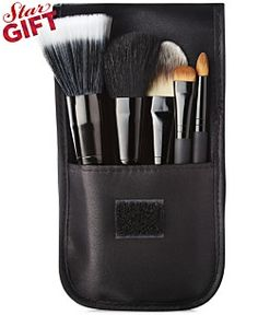 Impulse Beauty Get The Pulse Travel Brush set for all your on the go needs. 5-piece set includes blurring brush, foundation brush, angled blush brush, short shading brush, orbit shading brush with travel carrying case.