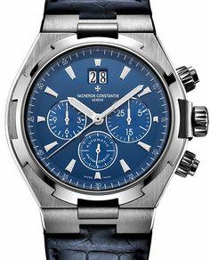 49150/000A-9745 Vacheron Constantin Overseas Chronograph - швейцарские мужские наручные часы - стальные, синие