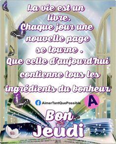 Good Thursday, Days Of Week, Love Quates, Bonheur, Beauty, Cards