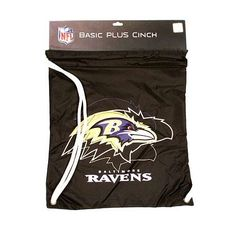 Baltimore Ravens NFL Drawstring Cinch Bag Backpack NEW STYLE by NFL. Save 50 Off!. $9.99. String bag is perfect for children, students and adults. Made by Little Earth.
