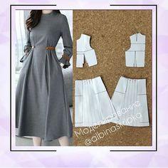 New Style Fashion Dresses Simple 24 Ideas Fashion Sewing, Diy Fashion, Ideias Fashion, Style Fashion, Mode Abaya, Mode Hijab, Dress Sewing Patterns, Clothing Patterns, Sewing Clothes