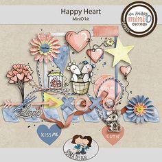 Oscraps.com :: Shop by Category :: All New :: SoMa Design: Happy Heart - MiniO - Kit Happy Heart, Kit, Shop, Design, Store
