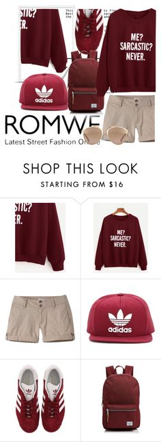 """""""Romwe"""" by dollz-n-donz ❤ liked on Polyvore featuring Mountain Khakis, adidas Originals, adidas, Herschel Supply Co. and Christian Dior"""