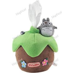"5"" Totoro Style Plush Tissue Paper Box Cover Holder Desktop Display Decoration Fans Collection FTY-97646"