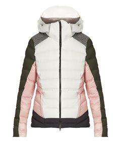 Capranea Linkin hooded down-filled ski jacket