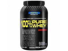 Whey Protein 100% Pure Whey Morango 900g - Probiótica c/ BCAA