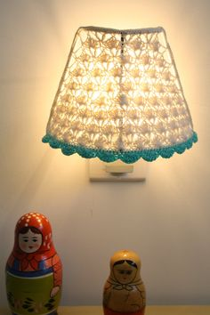 Crochet Lampshade / Night Light Crochet Lampshade by babytogo, $50.00