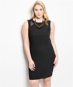 Little Black Sleeveless Dress (Curvy Madame)