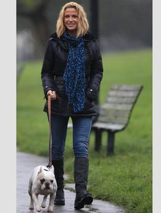 Celebrity pets: Sarah Harding puts in some exercise with her pooch and she looks pretty