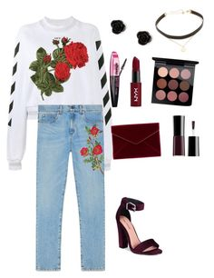 """""""Red """" by mikeysfaveslice on Polyvore featuring Off-White, Call it SPRING, Gucci, Rebecca Minkoff, L'Oréal Paris, NYX, claire's and Jennifer Zeuner"""