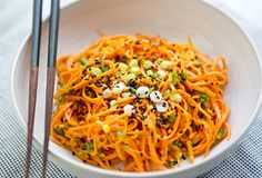 Carrot Noodles in Peanut Sauce - Read More at SpryLiving.com