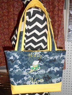 Navy Seabee Mom Tote