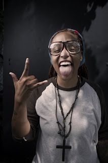 ★ ★ ★ ★ ★ five stars ( brown and white raglan sleeves rolled up, Brown rosary beads, brown leather necklace, black frame glasses, grey and red sweatband) Afro Punk Fashion, Black Barbie, My Black Is Beautiful, Black Girls, Black Women, Metalhead, Cute Faces, Black Art, Vintage Black