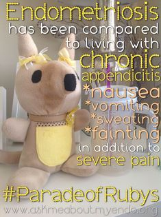 #Endometriosis can cause severe pain, nausea, vomiting, fainting, and has been compared to the type of pain cause by appendicitis. Visit AskMeAboutMyEndo.org for resources and support Stage 4 Endometriosis, Endometriosis Awareness, Fibromyalgia, When To Get Pregnant, Getting Pregnant, Costochondritis, Ovarian Cyst Treatment, Interstitial Cystitis, Cervical Cancer
