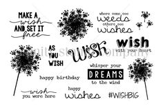 Wish with Your Heart {august 2014 sentiment kit} - Unity Stamp Co