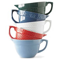 Take your pick! These batter bowls come in several colors. Kitchen Ikea, Kitchen Utensils, Kitchen Gadgets, Kitchen Dining, Kitchen Decor, Kitchen Stuff, Dining Room, Stonewall Kitchen, Dining Ware