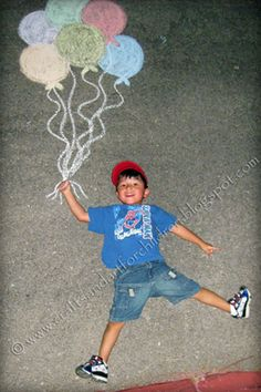 Crafts~N~Things for Children: Chalk Photography- Fun Activity + Creative Keepsake
