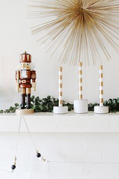 how to style a totally modern mantel for the holidays | coco kelley