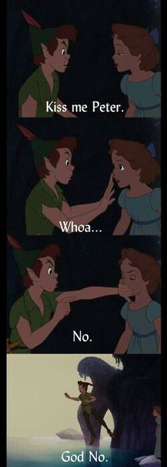 peter pan settling realistic situations for crushes