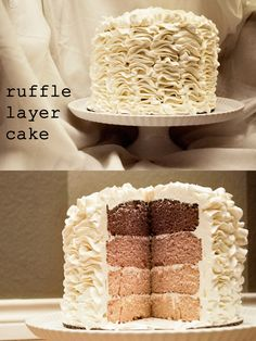 Ruffle cake - I would like to have this with coffee butter cream!