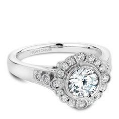 Noam Carver Vintage Style Engagement Ring - B091-01WM