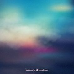Colorful abstract sunset background  Free Vector