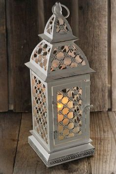 Battery Operated Candle Lantern White 17in (Includes 5 Lanterns)