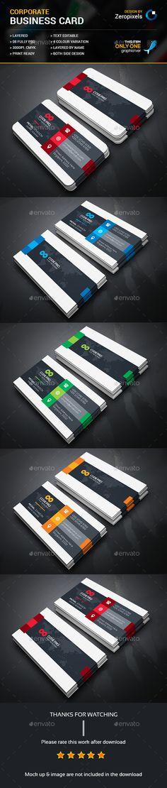Modern Business Card Template PSD. Download here: https://graphicriver.net/item/modern-business-card/17285405?ref=ksioks