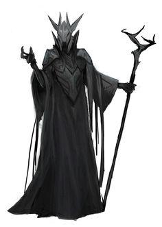 Image - Dark sorcerer by Fantasy Character Design, Character Design Inspiration, Character Art, Weird Creatures, Fantasy Creatures, Fantasy Armor, Dark Fantasy, Face Characters, Fantasy Characters