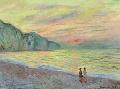 Claude Monet - Sunset at Pourville