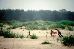 Riga Beach on a cloudy day 1981 Peter Marlow photograph.