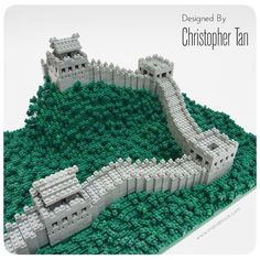 nanoblock Great Wall of China, using over 2000 bricks Used Legos, Lego Wall, Micro Lego, Lego Projects, School Projects, Cool Lego, Awesome Lego, Lego Activities, Lego Castle