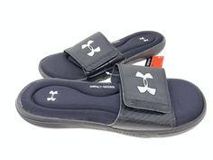 outlet store 37ca1 6efa6 Under Armour Men s Ignite lll Slides Black Silver Size 12  1235584 (2y1