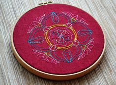 Lotus Mandala Embroidery Pattern