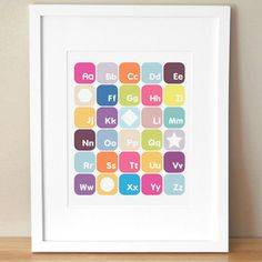 Now I Know My ABCs 11 x 14 Pink now featured on Fab.