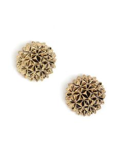 House of Harlow Mini Crater Stud Earrings