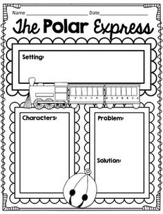 Polar Express by Chris Van Allsburg Reader Response CCSS Aligned. Great Christmas activities to go with beloved book and movie Polar Express. 1st 2nd or 3rd grade.