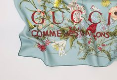 God Save the Queen and all: Gucci x COMME des GARÇONS Silk Scarves Capsule Collection #gucci #commedesgarçons #accesories #scarves