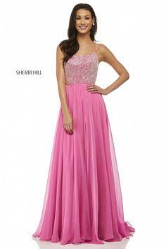Comanda online, Rochie Sherri Hill 52591 Pink. Articole masurate, calitate garantata!
