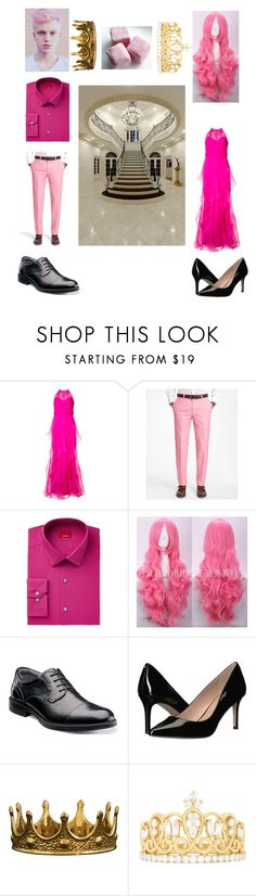 """""""Prince Gumball and Princess Bubblegum"""" by skye-plays-too-many-video-games ❤ liked on Polyvore featuring Badgley Mischka, Brooks Brothers, Alfani, Florsheim, BCBGeneration, Seletti and Effy Jewelry"""