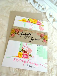 WEDDING INVITATION SUITE  Unique Custom Designed by SweetPeaSunday, $5.00
