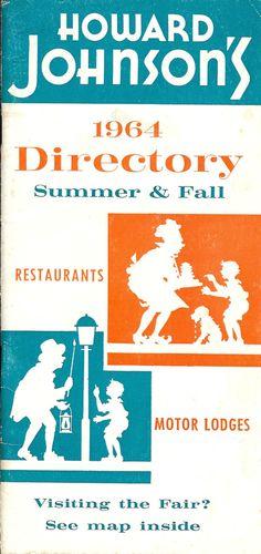 Howard Johnson's 1964 Directory