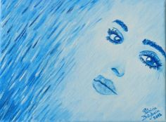 """Tablou """"I see you"""" - PatriciaShop See You, Paintings, Crafty, Paint, Painting Art, Draw, Painting, Portrait, Resim"""